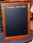 Custom made chalkboard